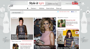Style It Light: Yahoo and Diet Coke's fashion site